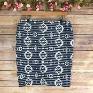 Karen Kane Stitch Fix Ikat Print Skirt